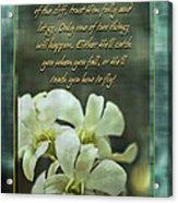 Trusting God Acrylic Print