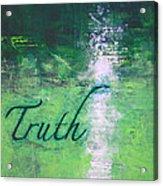 Truth - Emerald Green Abstract By Chakramoon Acrylic Print