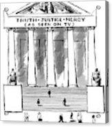 Truth Justice Mercy Acrylic Print