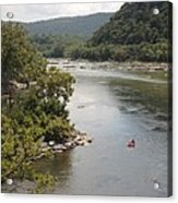 Tubing On The Potomac River At Harpers Ferry Acrylic Print