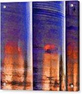 Tubular Sunset Acrylic Print