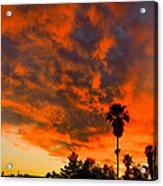 Tucson Arizona Sunrise Fire In The Sky Acrylic Print