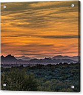 Tucson At Sunset Acrylic Print