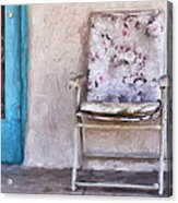 Tucson Front Porch Painterly Effect Acrylic Print
