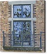 Tudor Style Windows With Balcony Acrylic Print