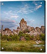 Tufa And Clouds Acrylic Print