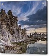 Tufas And Clouds Acrylic Print