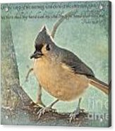 Tufted Titmouse With Verse IIi Acrylic Print