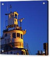 Tug Boat At Dawn, Cape Ann, Gloucester Acrylic Print