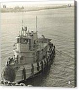 Tug Boat In Puerto Rico 1956 Acrylic Print
