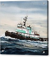 Tugboat Island Champion Acrylic Print by James Williamson