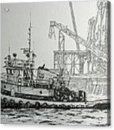 Tugboat Martha Foss Acrylic Print