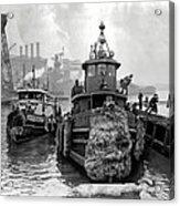 Tugboat Winter  1946 Acrylic Print