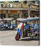 Tuk Tuk Taxis In Bangkok Thailand Acrylic Print