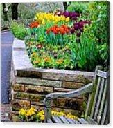 Tulip Bench Acrylic Print