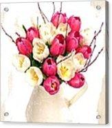 Tulip Blooms Acrylic Print by Debra  Miller