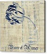 Tulip - Vivre Et Aimer S04t03t Acrylic Print