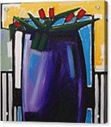 Tulipani T15- Oil On Canvas100x100 Cm Acrylic Print