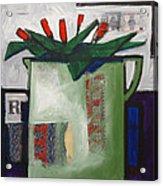 Tulipani T19 -oil On Canvas 100x100 Cm Acrylic Print