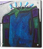 Tulipani T8- Oil On Canvas100x100 Cm Acrylic Print