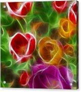 Tulips-6944-fractal Acrylic Print