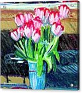 Tulips And Valentines Acrylic Print