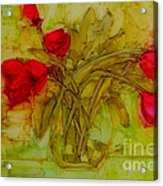 Tulips In A Glass Vase Acrylic Print