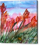 Tulips In The Wind Acrylic Print