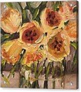 Tulips In Yellow By Alabama Artist Angela Sullivan Acrylic Print