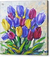 Tulips Time Love The Spring By Prankearts Acrylic Print
