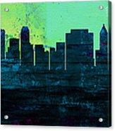 Tulsa City Skyline Acrylic Print