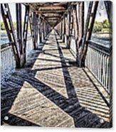 Tulsa Pedestrian Bridge Acrylic Print by Tamyra Ayles