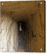 Tunnel At Meteora Monastery   #9763 Acrylic Print