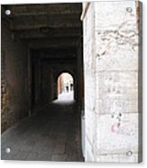 Tunnel In Venice Acrylic Print