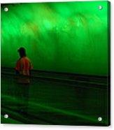 Green Tunnel Of Light  Acrylic Print
