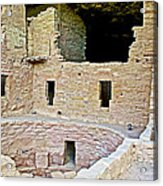 Tunnel Opening In Kiva Of Spruce Tree House On Chapin Mesa In Mesa Verde National Park-colorado  Acrylic Print