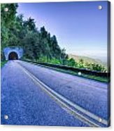 Tunnel Through Mountains On Blue Ridge Parkway In The Morning Acrylic Print