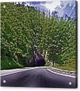 Tunnel Thru The Mountain Acrylic Print