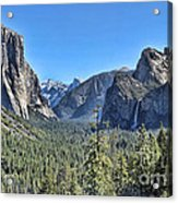 Tunnel View At Yosemite Acrylic Print