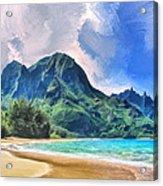 Tunnels Beach Kauai Acrylic Print