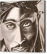 Tupac Acrylic Print by Michael Mestas