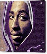Tupac Shakur And Lyrics Acrylic Print