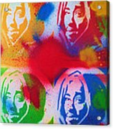 Tupac V Warhol Acrylic Print