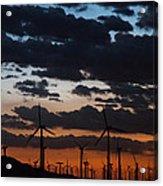 Turbine Sunset Acrylic Print