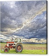 Turbo Tractor Country Evening Skies Acrylic Print by James BO  Insogna