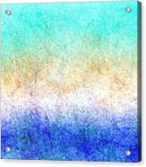 Turbulence Ocean Storm At Sunset Acrylic Print
