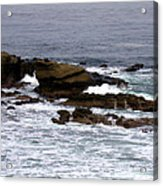 Waves Crashing Into La Jolla Shores Acrylic Print