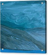 Turbulent Skies And A Glacier  Acrylic Print