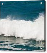 Turbulent Water Of Breaking Ocean Wave And Spray Acrylic Print