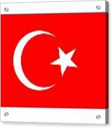 Turkey Flag Acrylic Print